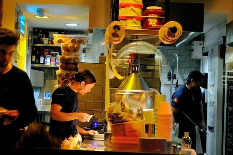 Kitchen in Liverpool St's Patty & Bun|