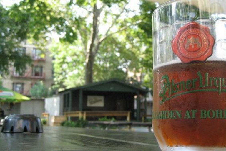 The Beer Garden at Bohemian Hall