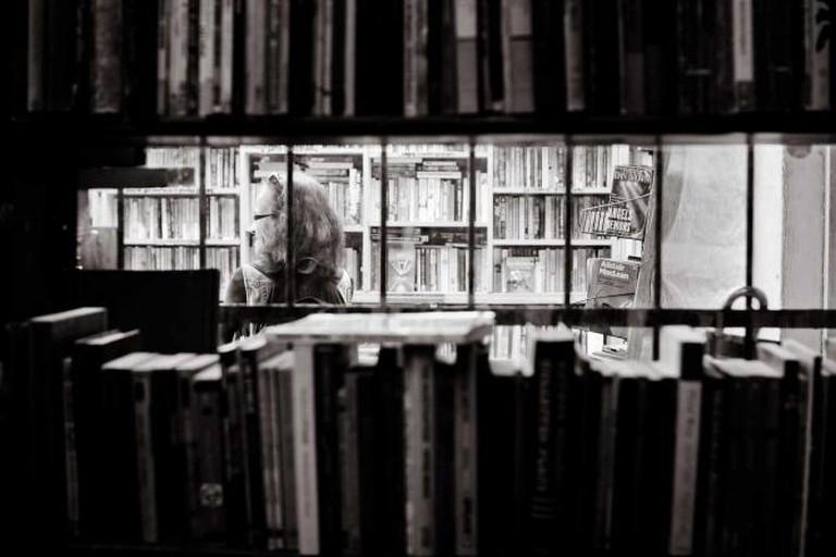 Costumer at Halper's Bookshop
