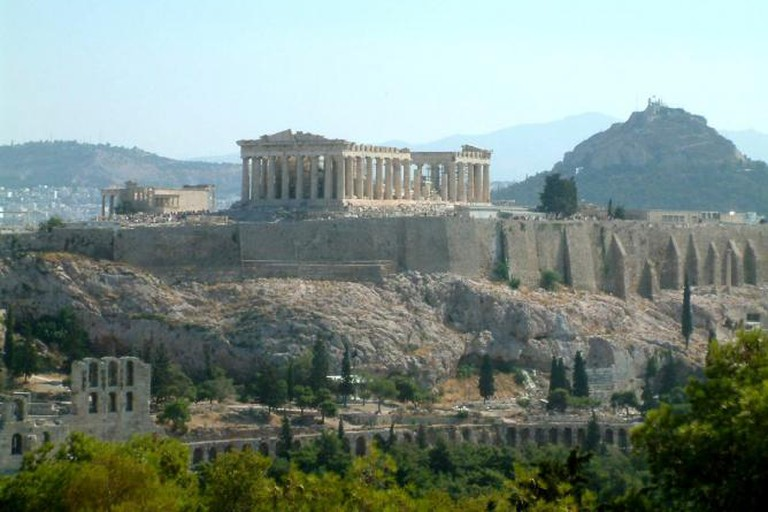 The Acropolis. View from Filopapou Hill.
