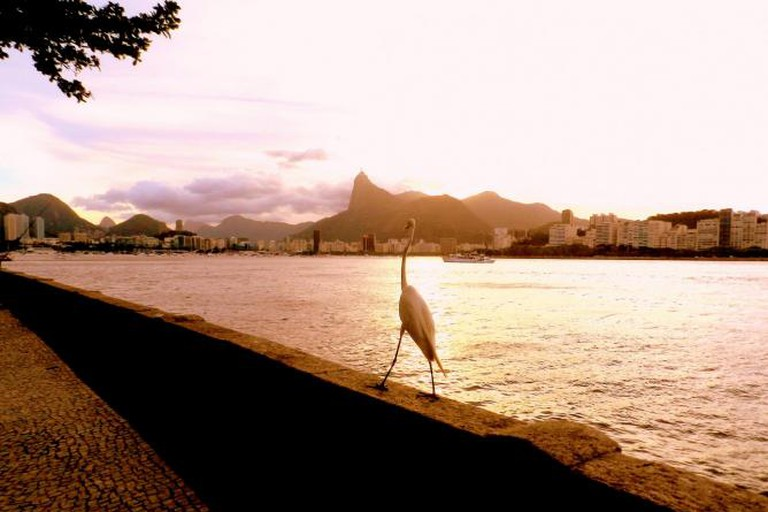 A view from Urca at sunset