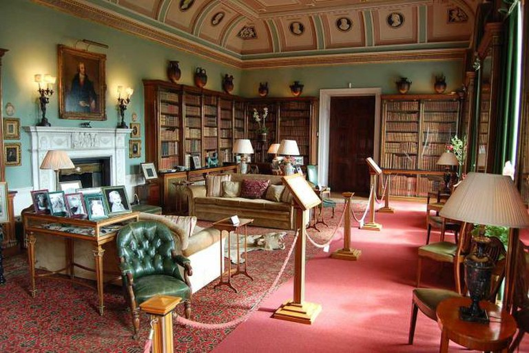 The library at Bowood House