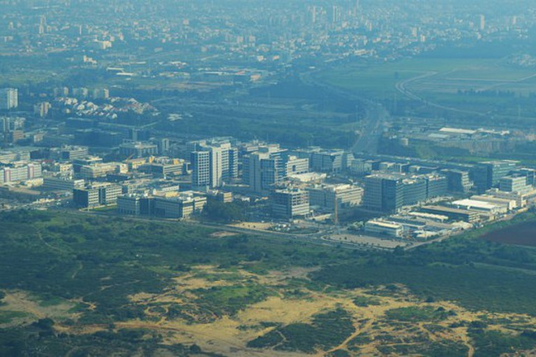 Overhead view of Herzliya Pituah