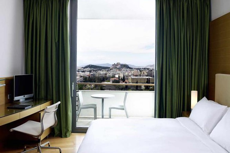 Room with a view of the Acropolis