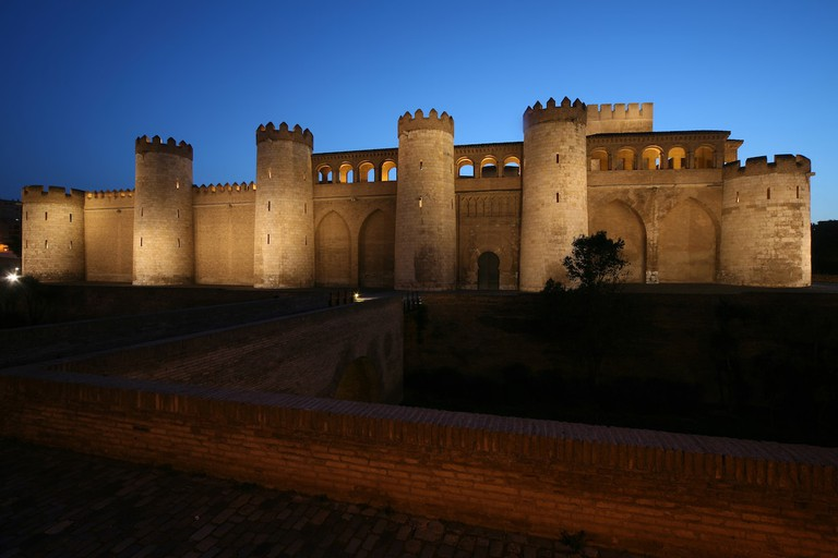 Palacio de la Aljafería in the Spanish city of Zaragoza