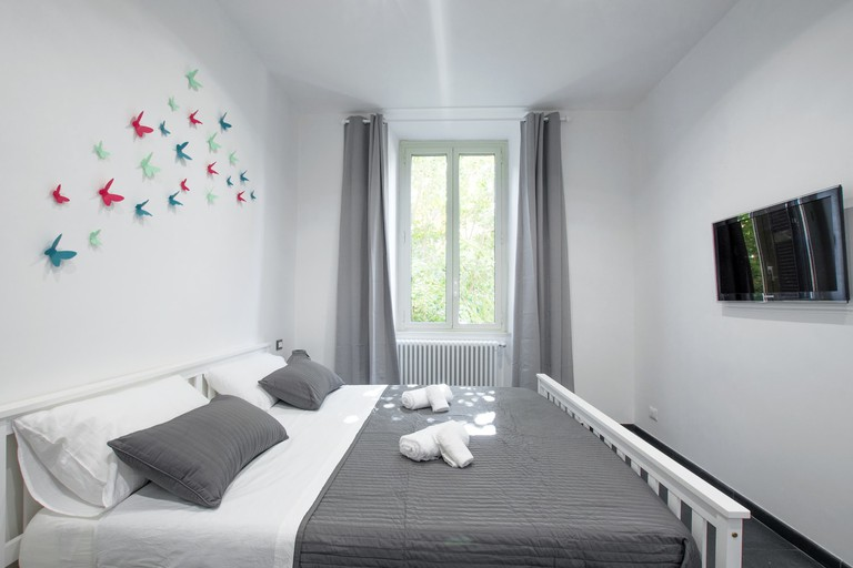 The bedroom at Gazometro Apartment Roma