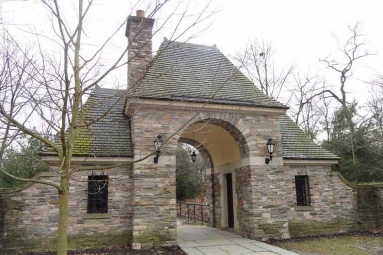 Frick Park entrance gate, Pittsburgh, Pennsylvania, USA