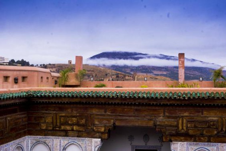 View from Laaroussa Riad