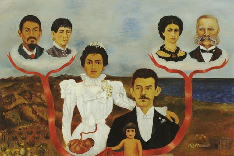 My Grandparents, My Parents and I (Family Tree), Frida Kahlo