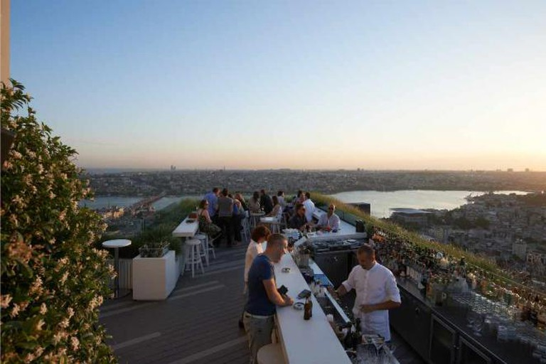 The gorgeous roof terrace