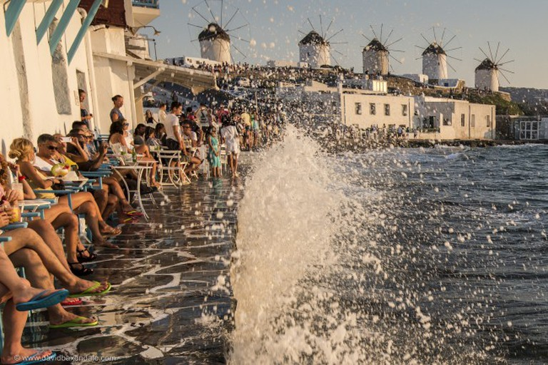 Bars in Little Venice, Mykonos