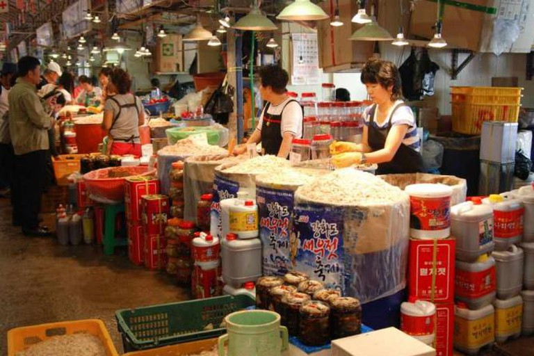 A Korean fish market