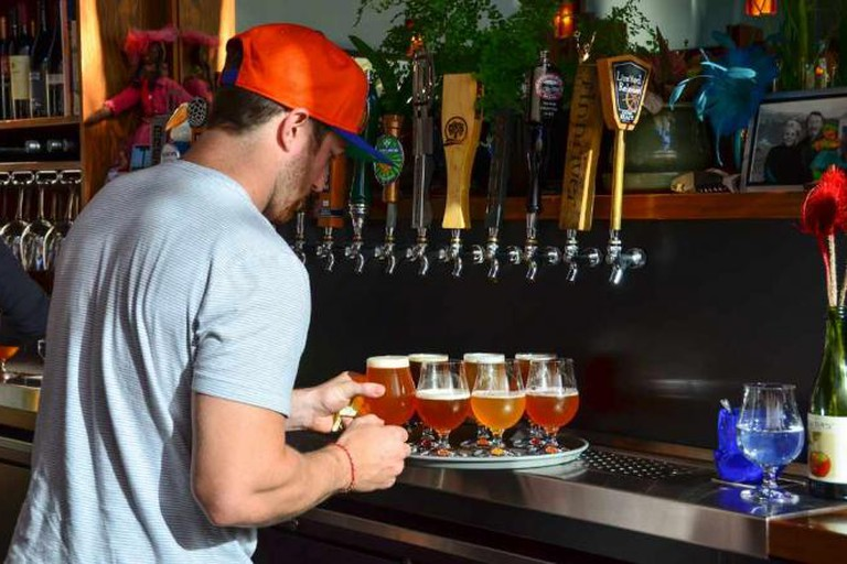 Beers on tap at the Noble Fir