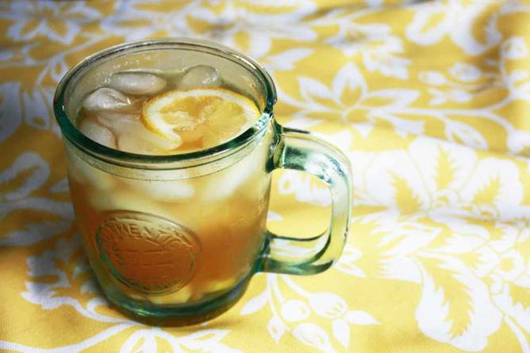 Ginger iced tea