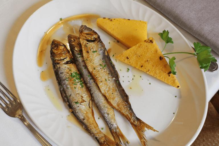 Sardine con Polenta, Trattoria Al Porto, Lake Iseo
