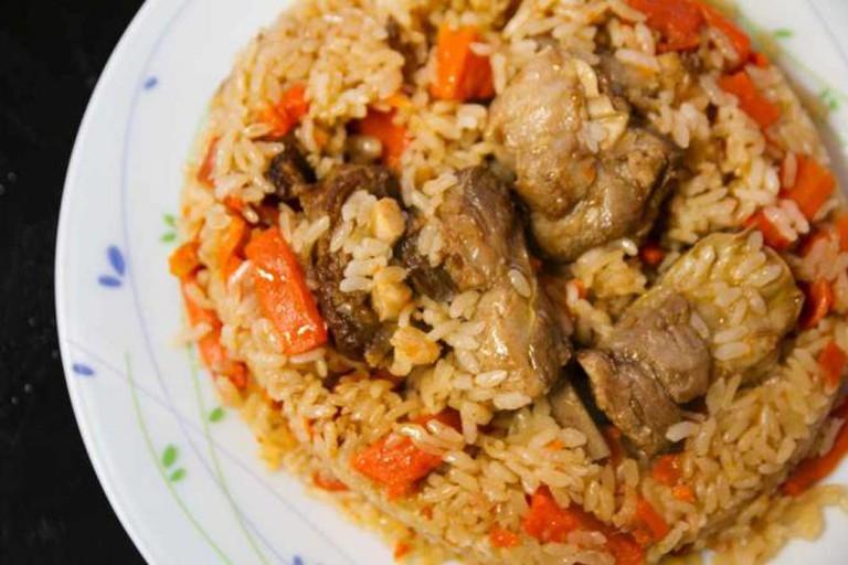 The rice dish, plov - a Caucasian delicacy