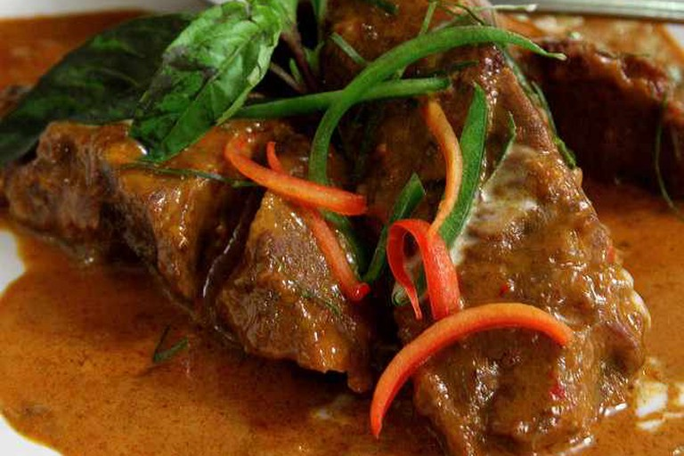 Braised Short Rib with Panang at Lotus of Siam