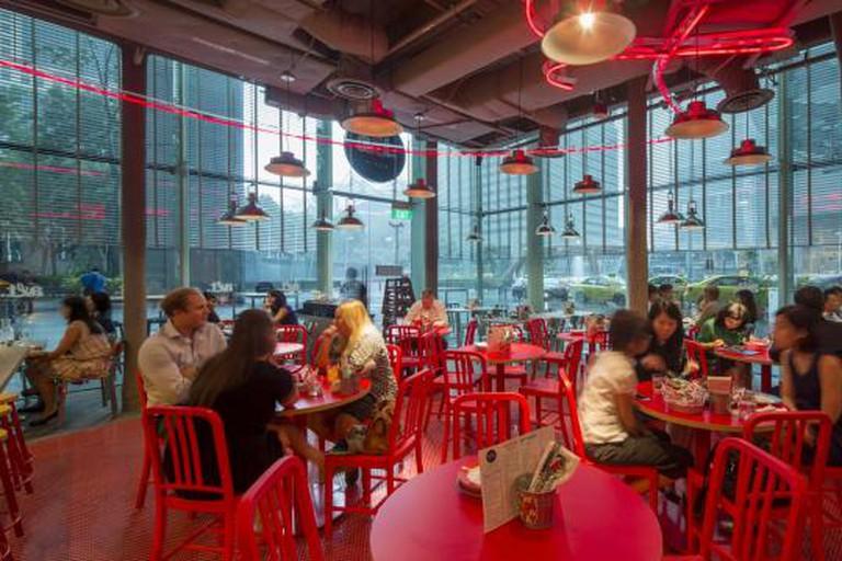 Interior of Alt. Pizza