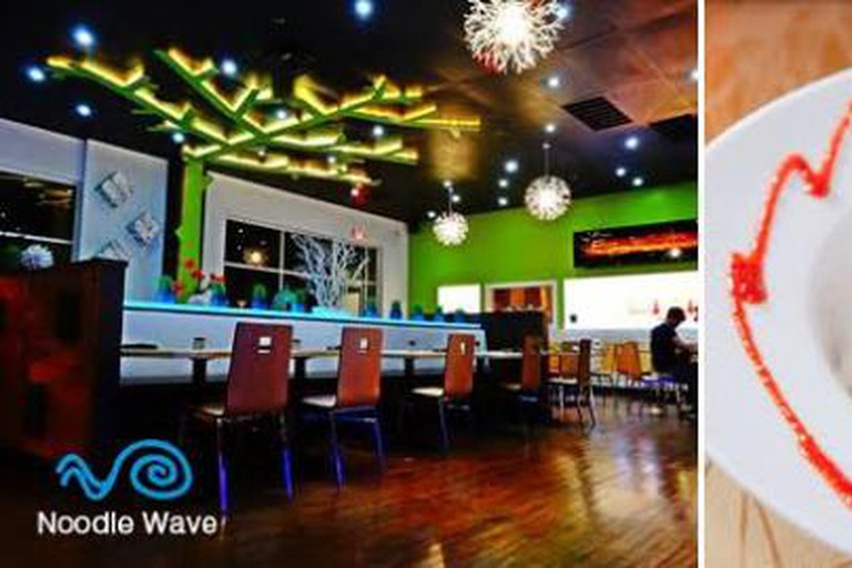 Noodle Wave Interior And Food