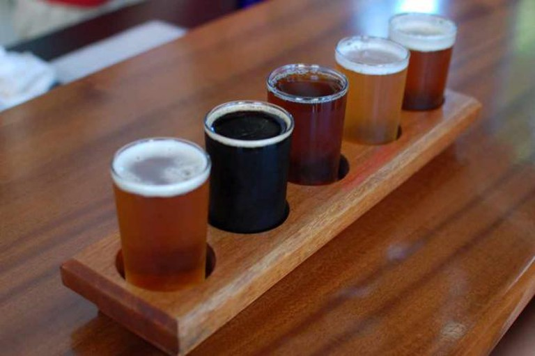 Beer tasting at Bailey's Taproom