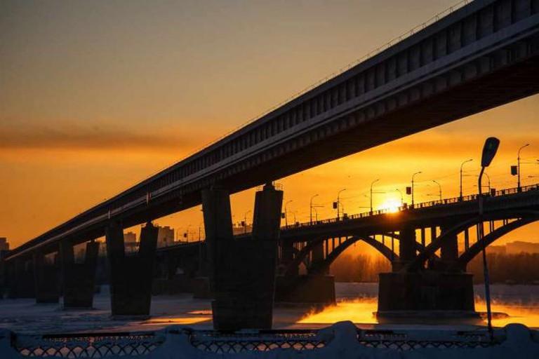 Novosibirsk by sunset