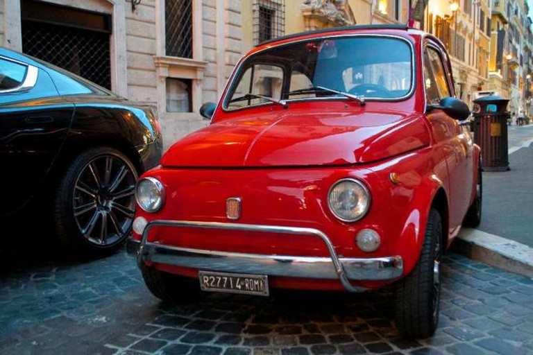 Typical Italian style on the streets of Rome