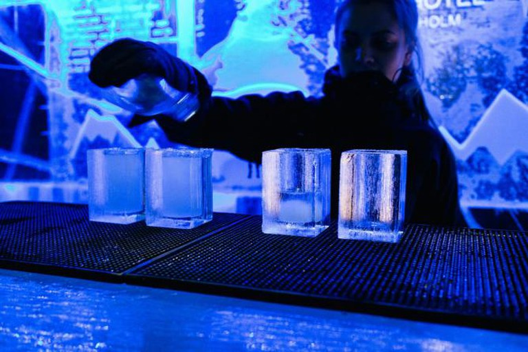 Drinks served in IceBar