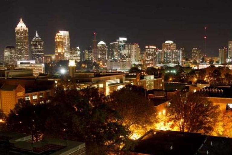 Midtown Atlanta by night