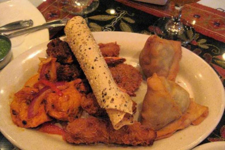 Mixed appetizer platter, Shalimar Restaurant