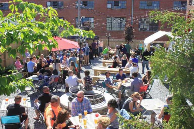 The beer garden at Resurgence Brewing Co.