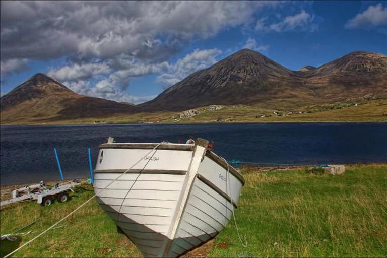 Beinn na Caillich rises