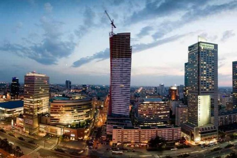 InterContinental and other skyscrapers in Warsaw's center