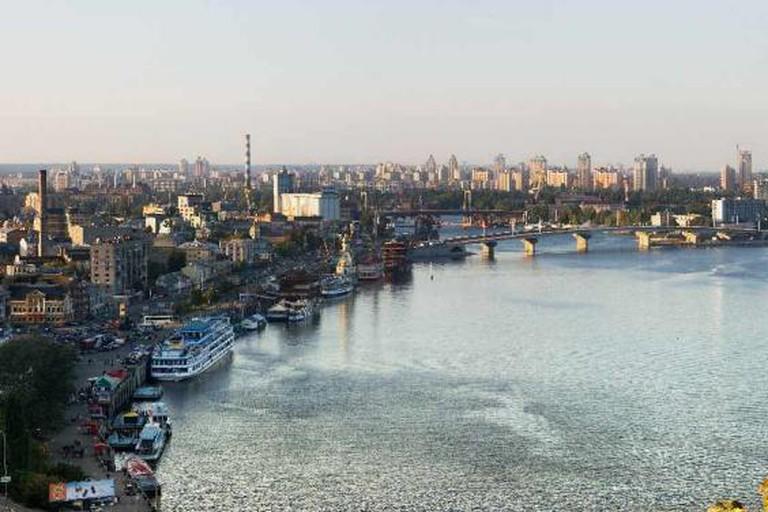 Dnipro river in Kiev