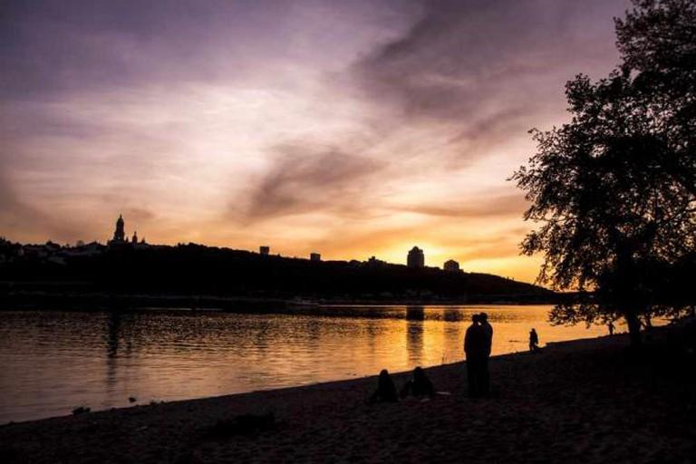 Sunset in Kiev