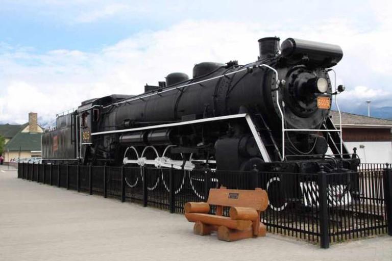 Lokomotive Bahnhof Jasper