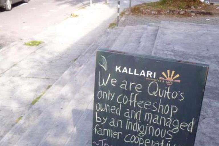 Outside the The Kallari Café