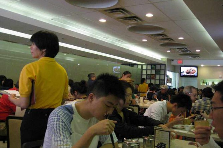 Inside King's Noodle Restaurant