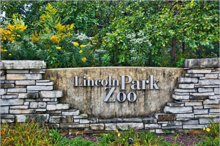 Lincoln Park Zoo entrance sign