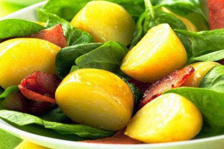 Warm Spinach-Potato Salad