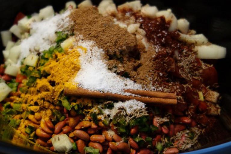 Punjabi curried beans