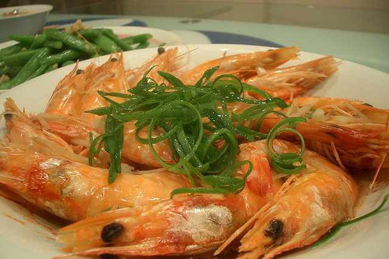 Steamed Prawns with Rice Wine