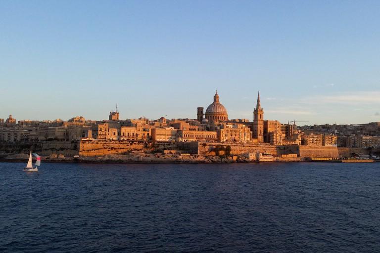 View of La Valletta from Sliema