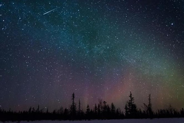 The night sky over Lapland