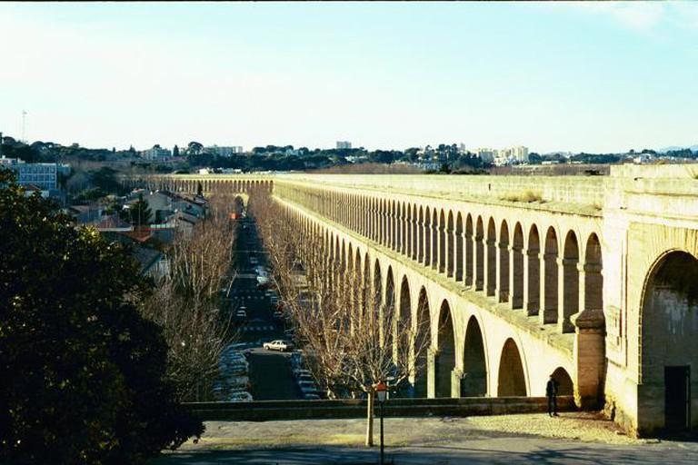 A Roman aqueduct, Montpellier