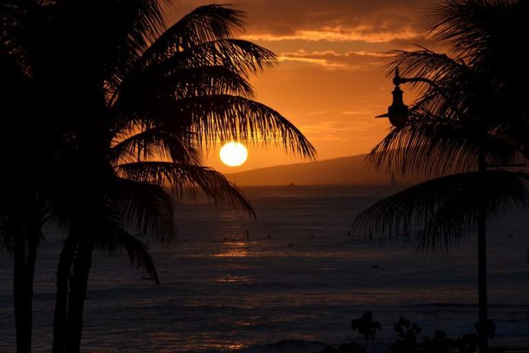 View from Tiki's Bar & Grill, Waikiki