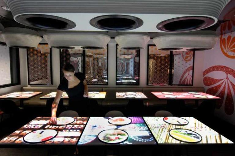 Interactive tables at Inamo