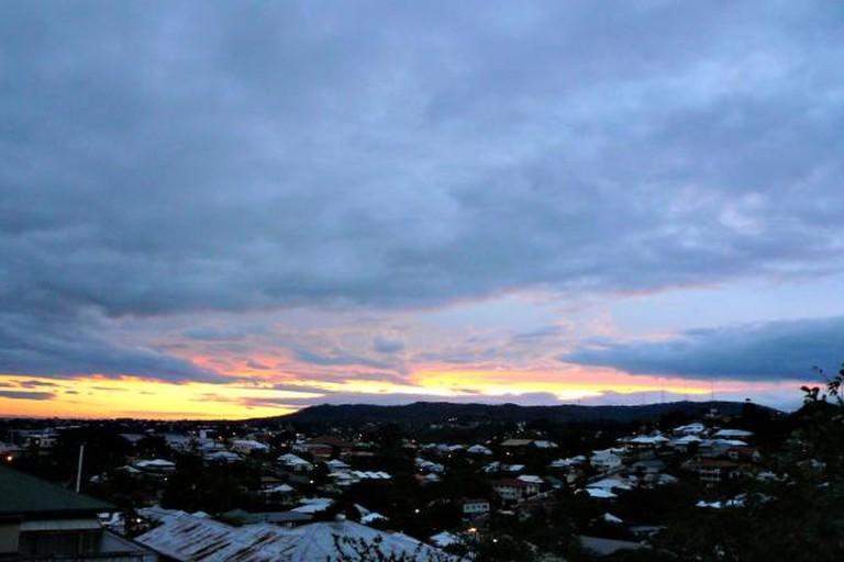 Sunset over Paddington