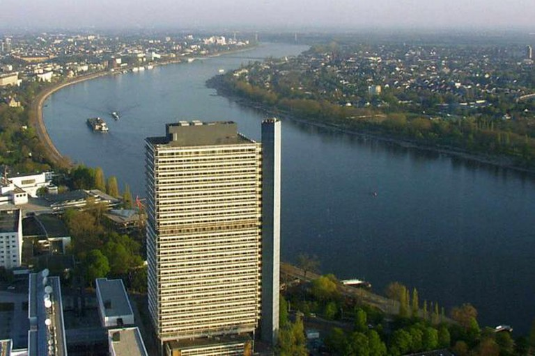 Aerial view of part of the UN Campus in Bonn