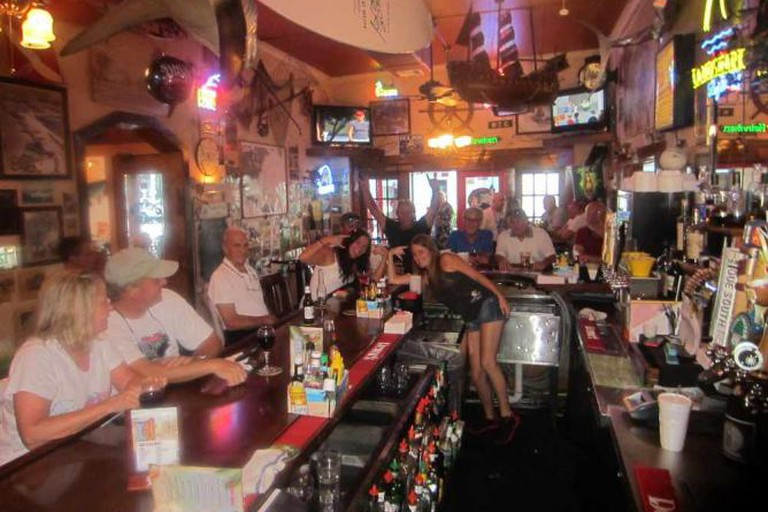 The bar at Hurricane Alley