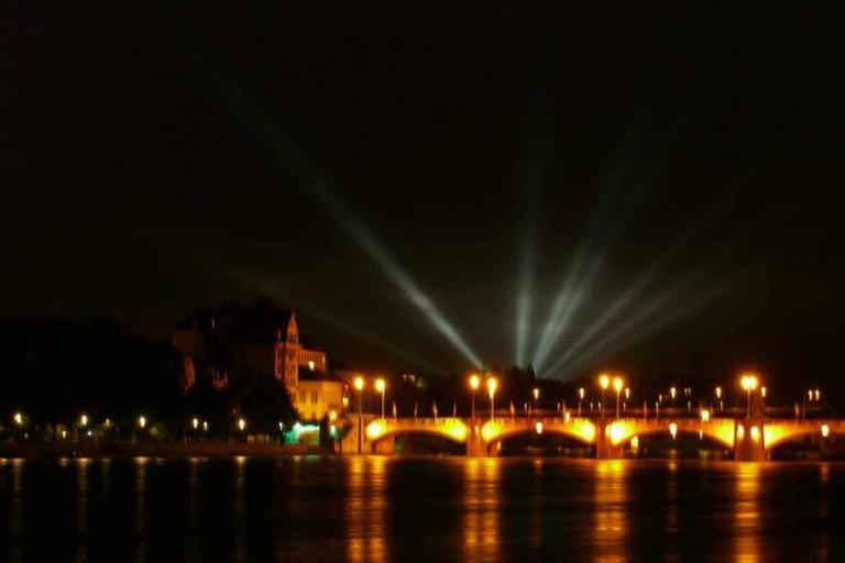 Basel at night